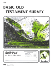 Old Testament Survey Self-Pac 113, Grade 9-12   -