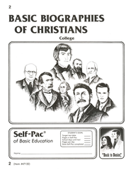 Biographies Of Christians Self-Pac 2, Grades 9-12   -
