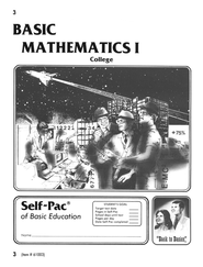 College Math Self-Pac 3  -