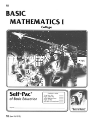 College Math Self-Pac 10  -