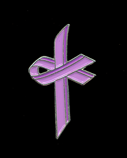 Awareness Cross Pin, Lavender  -