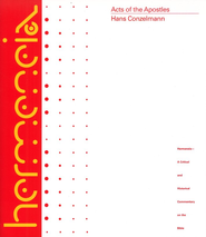 Acts: Hermeneia, a Critical and Historical Commentary on the Bible  -     By: Hans Conzelmann