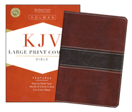 KJV Large Print Compact Bible, Mahogany Simulated Leather  -
