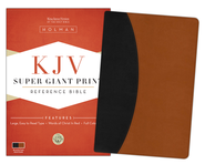 KJV Super Giant Print Reference Bible, Black & Tan Simulated Leather  -
