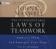 The 17 Indisputable Laws of Teamwork    - Audiobook on CD         -     Narrated By: John C. Maxwell     By: John C. Maxwell