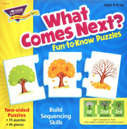 What Comes Next?Sequencing Fun-to-Know Puzzles  -