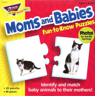 Moms and Babies Fun-to-Know Puzzles  -