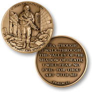 I Will Fear No Evil, Psalm 23 Coin   -