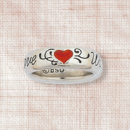 Love Waits Heart Ladies Ring, Size 6   -