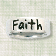 Faith Ring, Matthew 17:20, Ladies Size Large 7-8      -