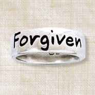 Forgiven Ring, Ephesians 1:7, Ladies Size Large 7-8   -
