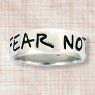 Fear Not Ring, Joshua 1:9, Men's Size Medium  9-10    -