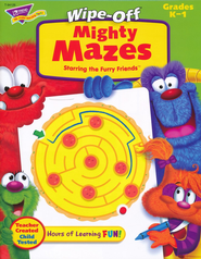 Mighty Mazes Wipe-Off Book   -
