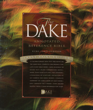 KJV Dake Annotated Reference Bible, Large Print, Bonded leather, Burgundy  -