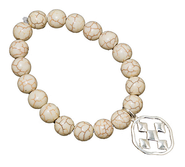 Shield of Faith Bracelet, White  -