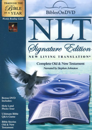 NLT Signature Edition Bible on DVD  - Slightly Imperfect  -