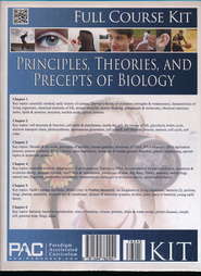 Principles, Theories & Precepts of Biology, Full Course Kit  -