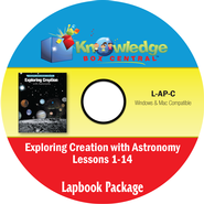 Exploring Creation with Astronomy Lapbook Package (Lessons 1-14) CD-Rom  -