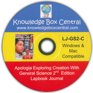 Apologia Exploring Creation With General Science 2nd Edition Lapbook Journal CD-Rom  -