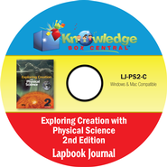 Apologia Exploring Creation With Physical Science 2nd Edition Lapbook Journal CD-Rom  -