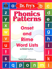 Dr. Fry's Phonics Patterns   -