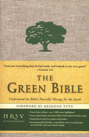 The NRSV Green Bible, cotton/linen cover   -