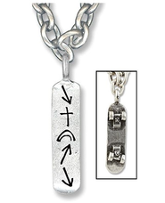 Witness Skateboard Necklace  -