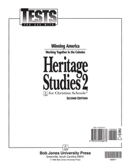 BJU Heritage Studies 2, Tests    -