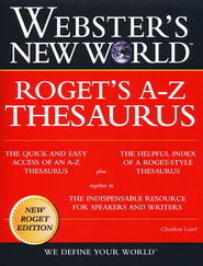 Webster's New World Roget's A-Z Thesaurus   -