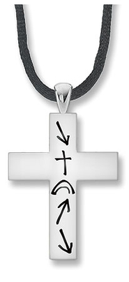 Men's Witness Cross Necklace  -