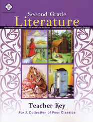 Second Grade Literature Teacher Key (Guide to 4 Books) Sarah Noble, Little House, Mr. Popper's, Beatrix Potter  -
