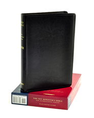 NIV Minister's Bible Genuine Leather Black 1984  -