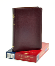 KJV Minister's Bible Genuine Leather Burgundy  -