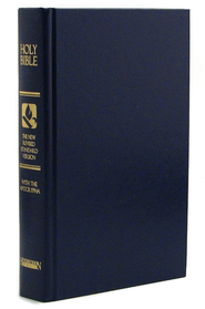 NRSV Pew Bible with Apocrypha, Blue Hardcover - Slightly Imperfect  -