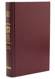 NRSV Pew Bible With Apocrypha, Hardcover, Burgundy, Slightly Imperfect  -