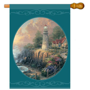 The Light of Peace Large Flag   -              By: Thomas Kinkade