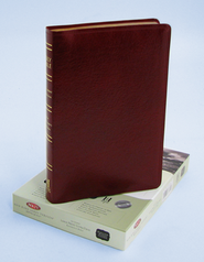 NKJV Ultra Thin Large Print Reference Bible, Bonded leather, Burgundy  -