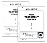 Advanced High School or College Elective: Old Testament Survey SCORE Keys 1-10  -