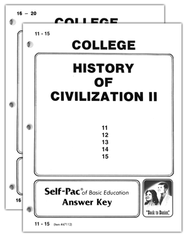 Advanced High School or College Elective: History of Civilization 2 SCORE Keys 11-20  -