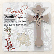 Family is Where Your Story Begins Plaque  -