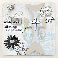 With God All Things are Possible Plaque  -