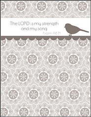 The Lord is My Strength, Blank Note Cards, Box of 8  -