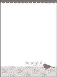 Be Joyful Memo Pad  -