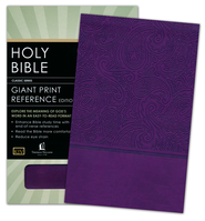 KJV Personal Size Giant Print End-of-Verse Reference Bible, Leathersoft, royal purple  -