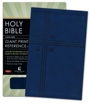 NKJV Personal Size Giant Print End-of-Verse Reference Bible, Leathersoft, midnight blue  -