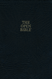 KJV Open Bible, Bonded leather, black indexed  -