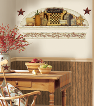 Country Decor Vinyl Wall Stickers Large  -