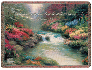 He Leadeth Me Beside Still Waters Tapestry Throw  -     By: Thomas Kinkade