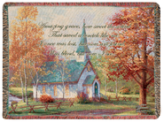 Amazing Grace Tapestry Throw  -              By: Thomas Kinkade