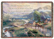 May the Road Rise Tapestry Throw  -     By: Thomas Kinkade